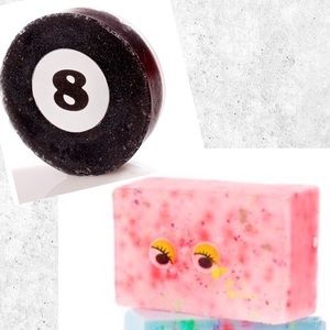 Sold Dirty Grl Pink Google Eye & 8 Ball Vegan Soap